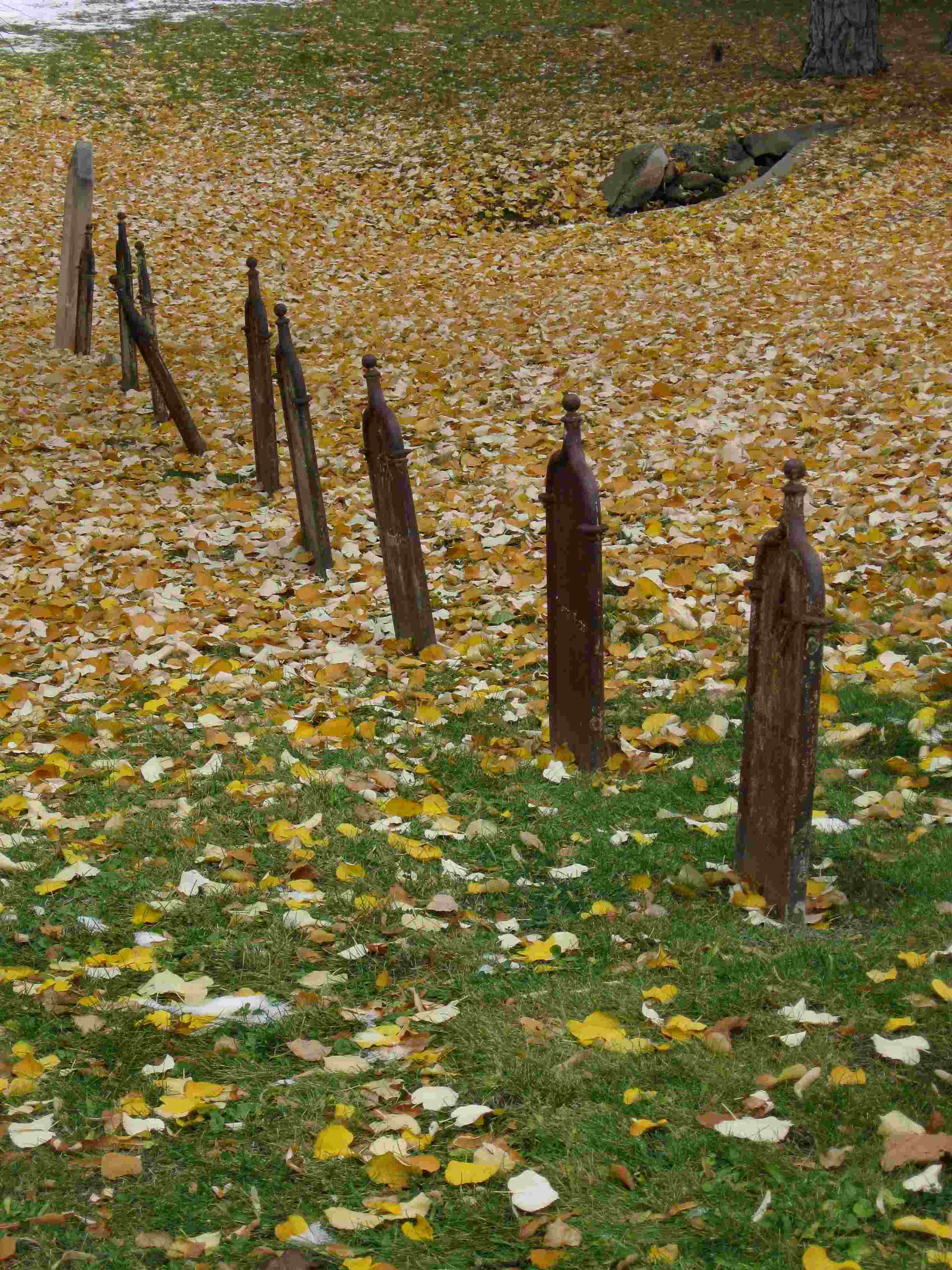 Old Grave Markers in Autumn
