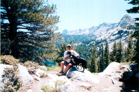 Photographer with Dawgs at Mammoth Lakes