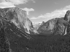 Yosemite Gate to the Valley Black and White