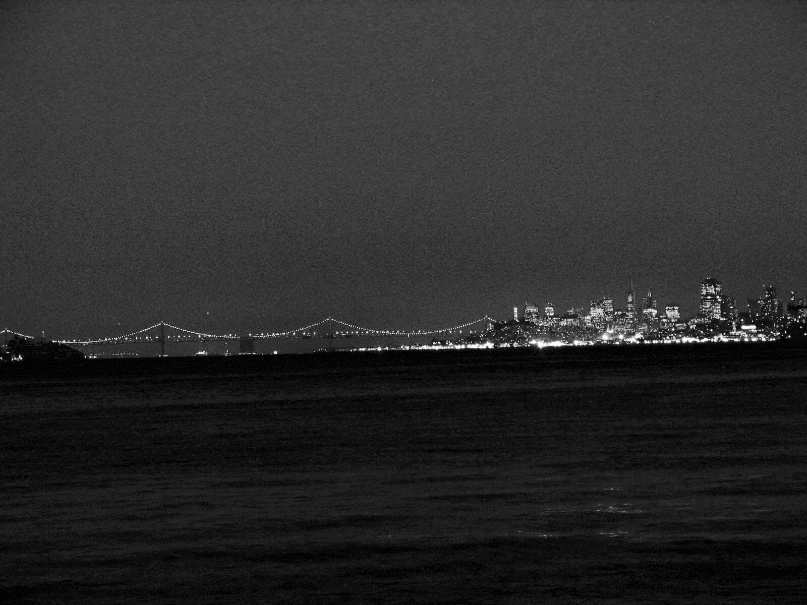 San Francisco Lights 2 Black and White