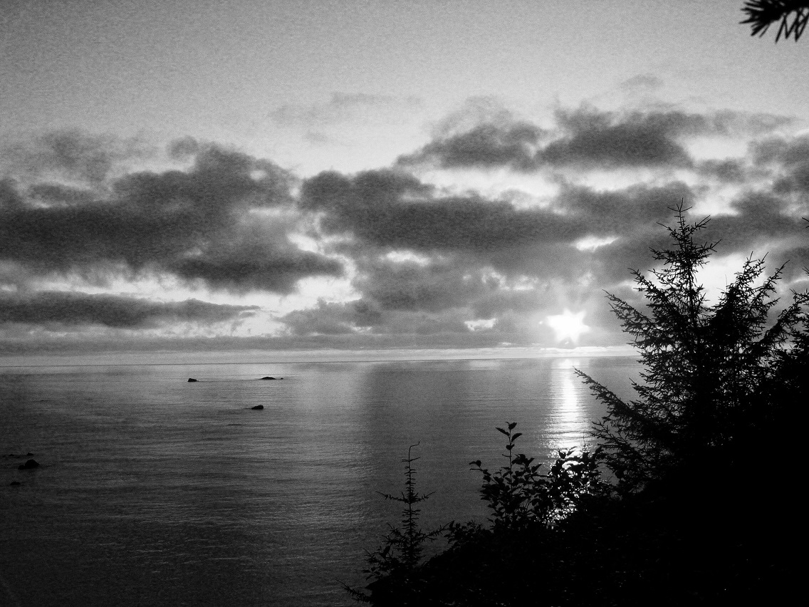 Sunset At Patricks Point Black and White